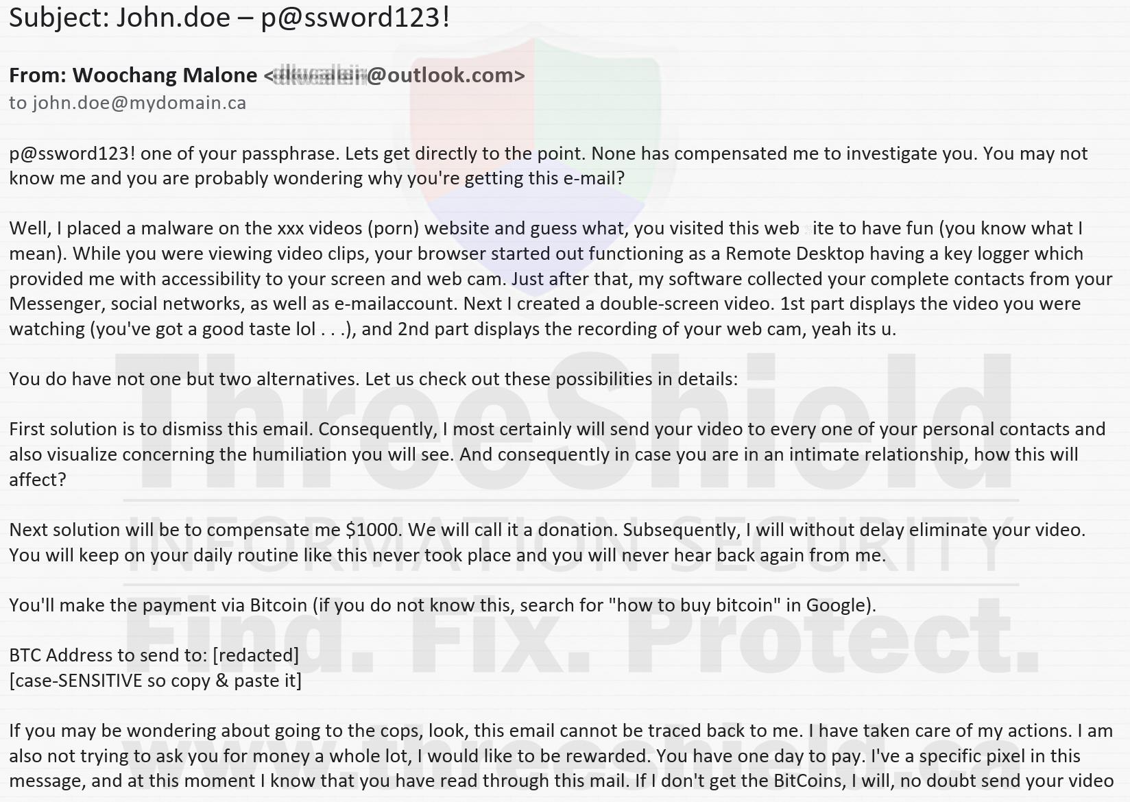 LinkedIn Porn Extortion Scam